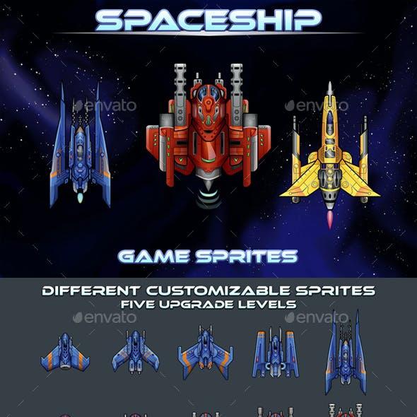 Spaceship 2D Sprites