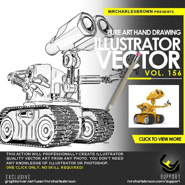 Pure Art Hand Drawing 156 – Illustrator Vector