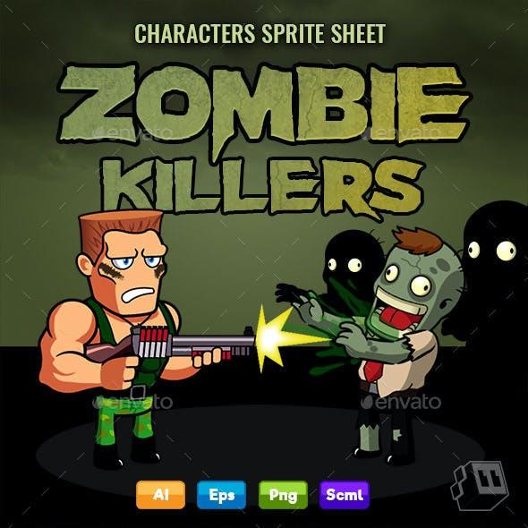 Zombie Killer Shooter - Character Sprite Sheet