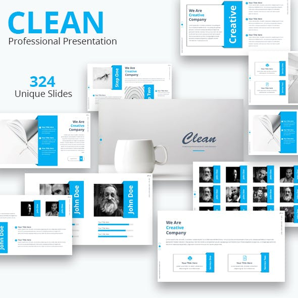Clean Premium Powerpoint Presentation Template