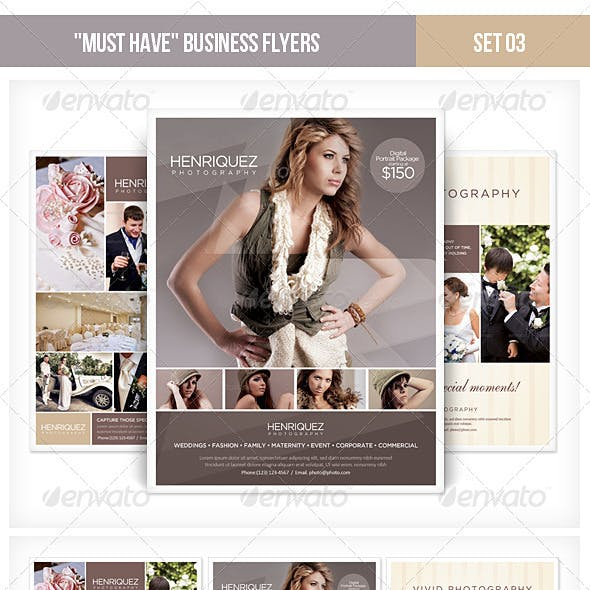 """Must Have"" Business Flyers - Set 03 Photography"