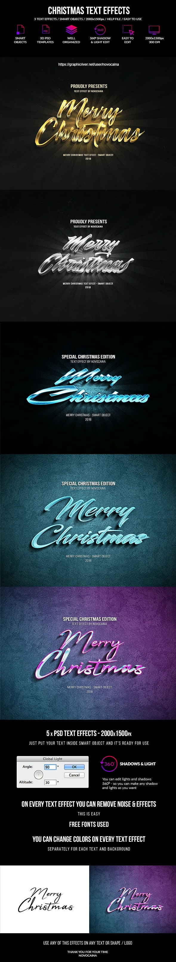 Christmas Text Effects - Text Effects Actions