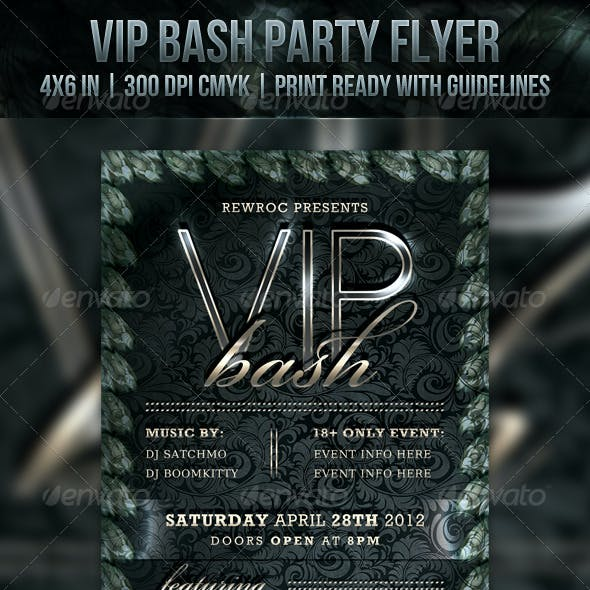 VIP Bash Party Flyer