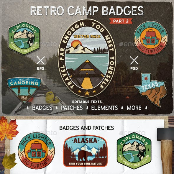 Retro Camp Badges. Part 2