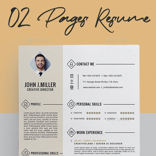 02 Pages Resume Template