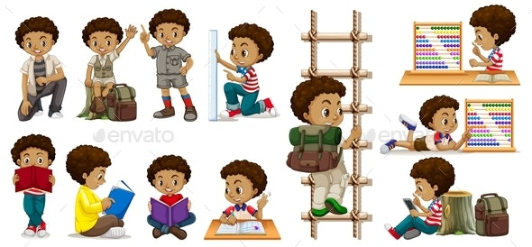 Boy In Activities - People Characters