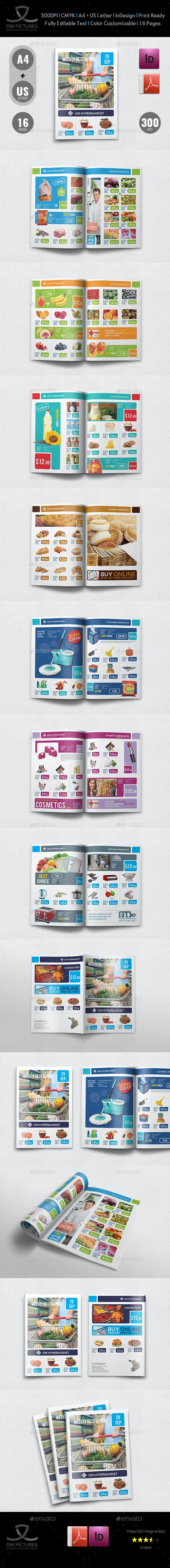 Supermarket Produces Catalog Brochure Template Vol.5 - Catalogs Brochures