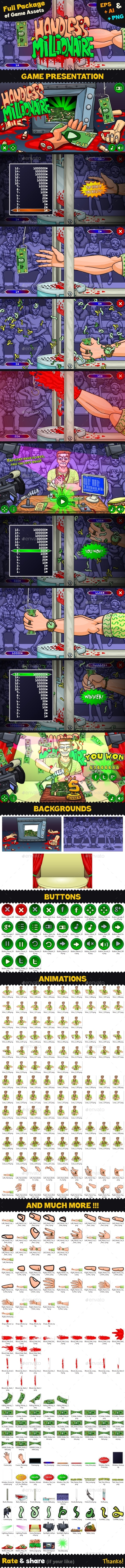 Game Assets for Handless Millionaire - Game Kits Game Assets