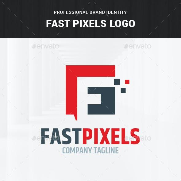 Fast Pixels - Letter F Logo Template