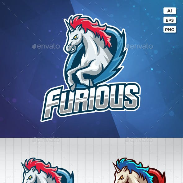 Unicorn Esport Logo Template