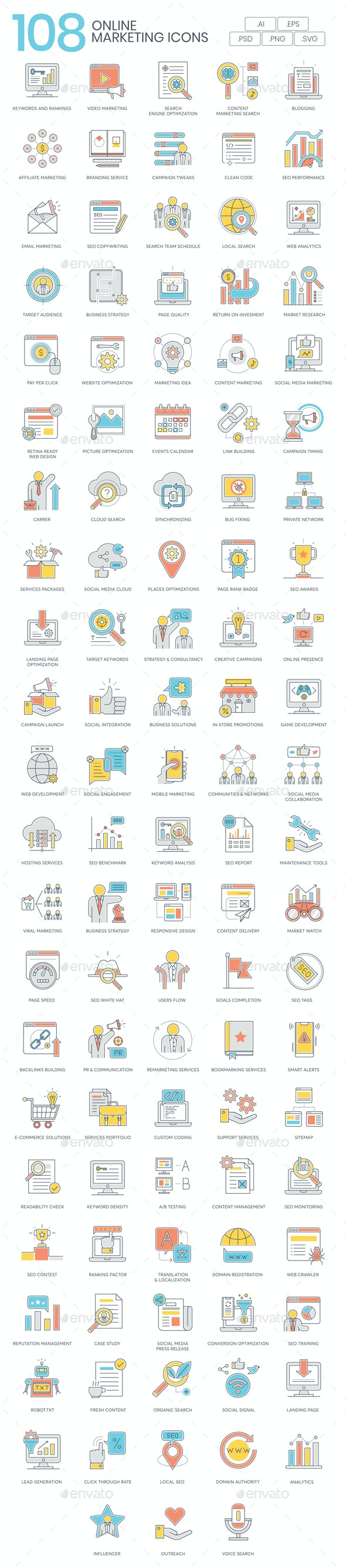 SEO & Marketing Icons - Business Icons