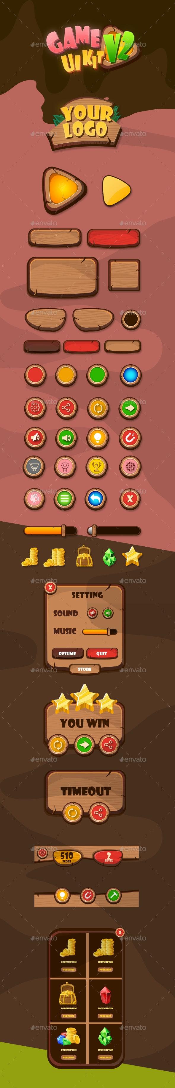 Game UI Kit V2 - User Interfaces Game Assets