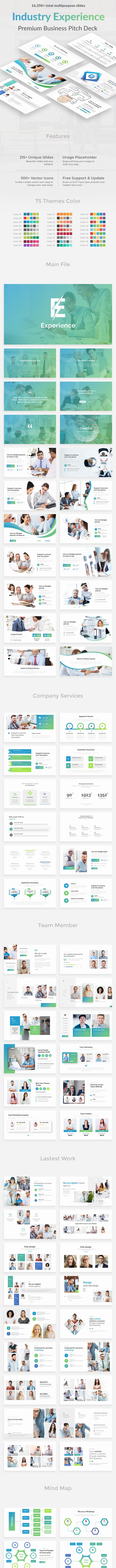 Industry Experience Pitch Deck Keynote Template - Business Keynote Templates