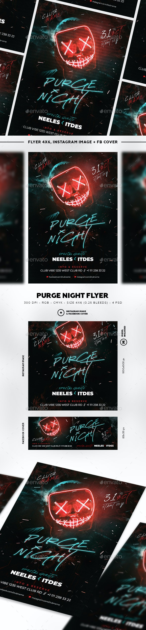 Purge Neon Halloween - Clubs & Parties Events