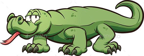 Komodo Dragon - Animals Characters