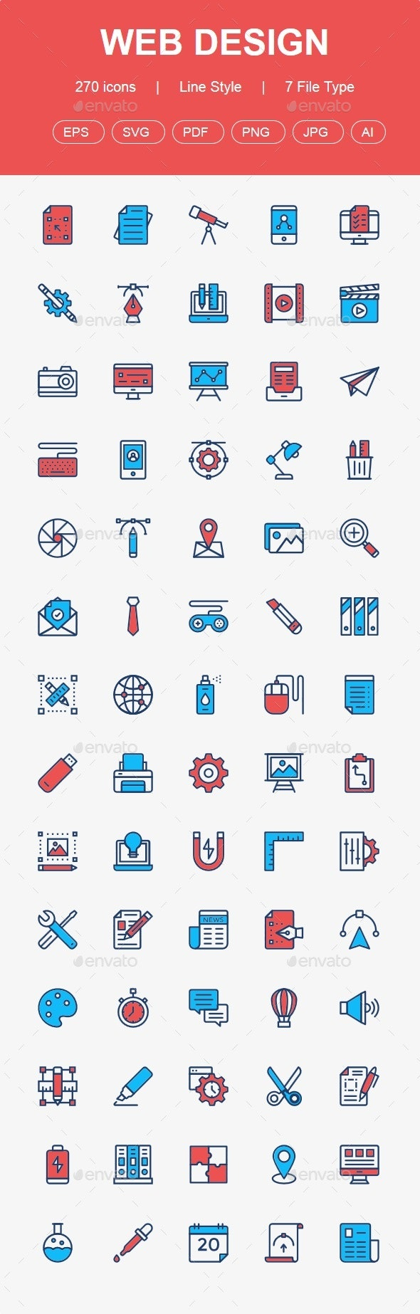Web Design, Development & User Interface color line icons - Business Icons