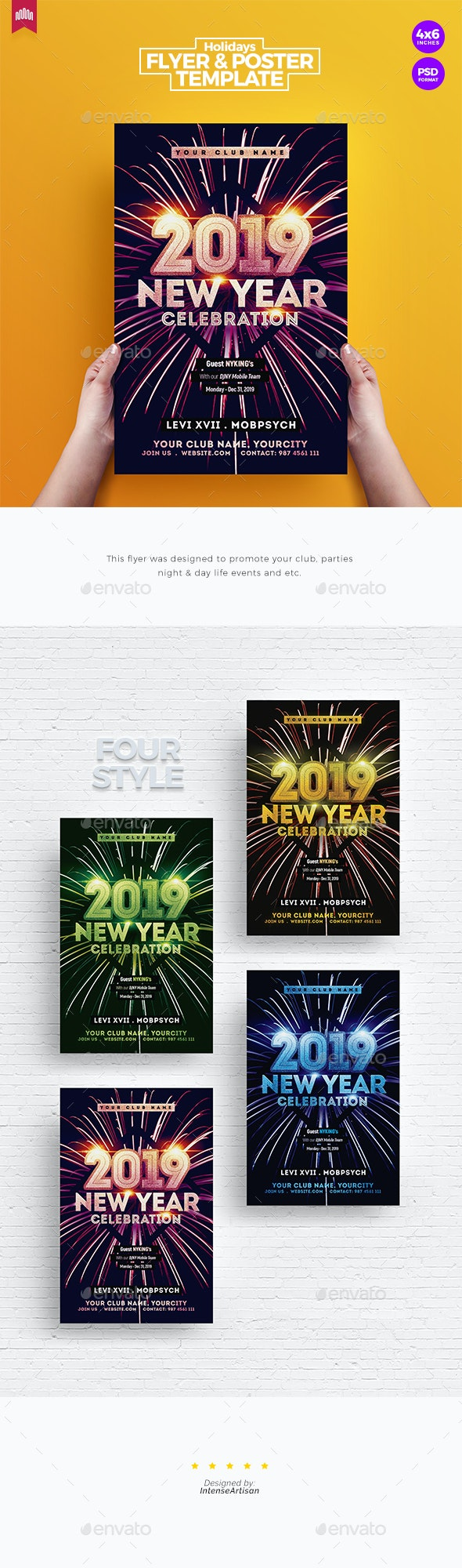New Year Party - Flyer Template - Holidays Events