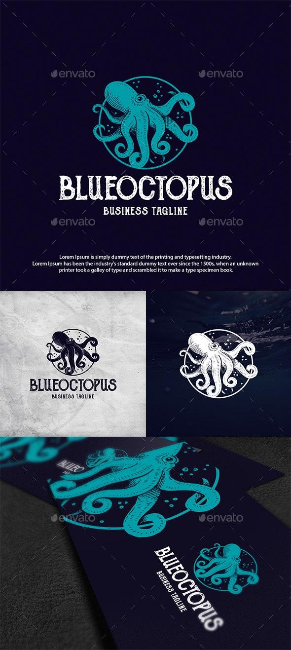 Ocean Octopus Logo Template - Animals Logo Templates