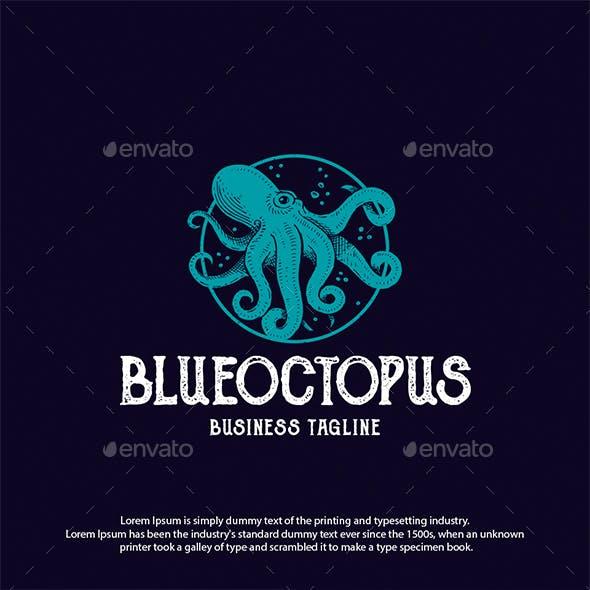 Ocean Octopus Logo Template