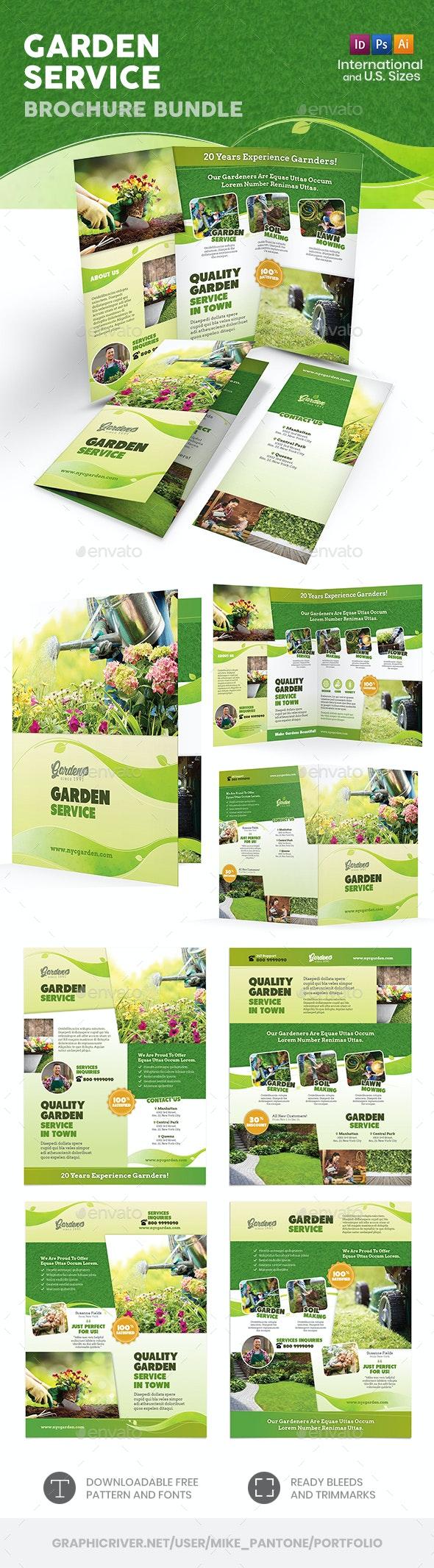 Garden Service Print Bundle 2 - Informational Brochures