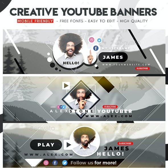 Multipurpose YouTube Banners