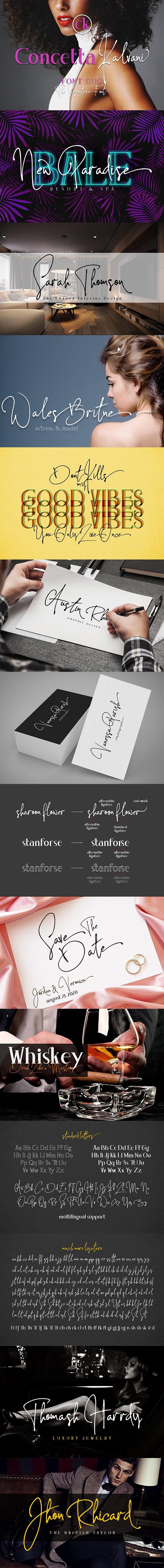 Concetta Kalvani / Signature & Serif - Script Fonts