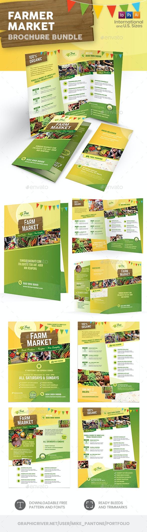 Farmer Market Print Bundle - Informational Brochures