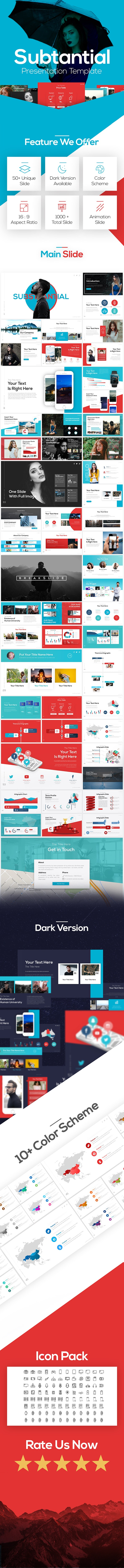 Substantial - Creative Powerpoint Template - Business PowerPoint Templates