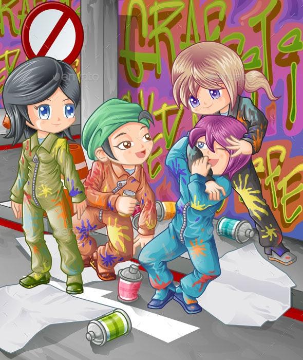 Graffiti People - Miscellaneous Characters