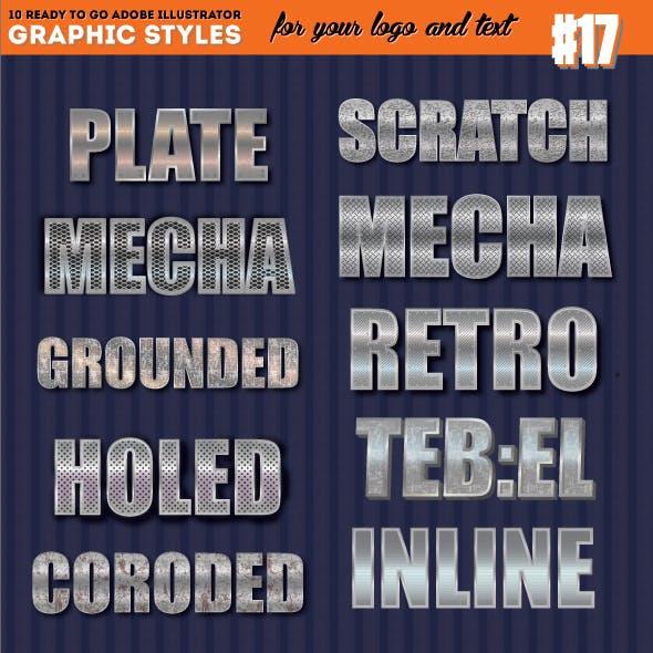 3D Metallic Chrome Graphic Style 01