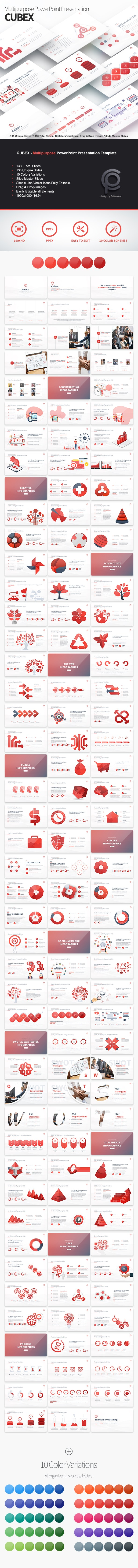 Cubex - Multipurpose PowerPoint Presentation - Business PowerPoint Templates
