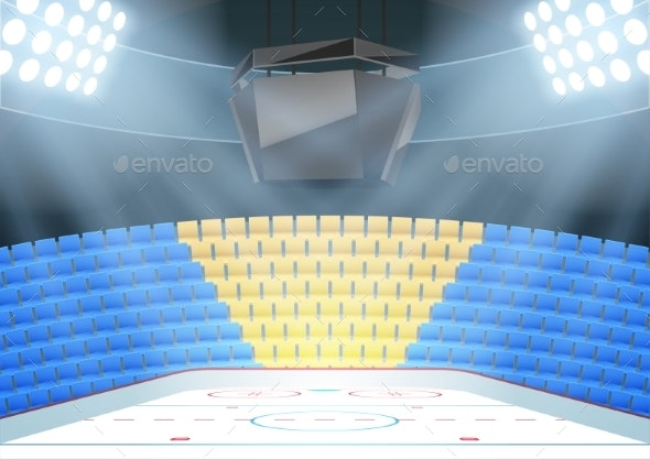 Backgrounds of Ice Hockey Arena - Sports/Activity Conceptual