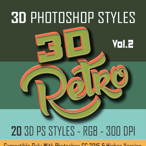 20 3D Retro Photoshop Styles asl.Vol.2