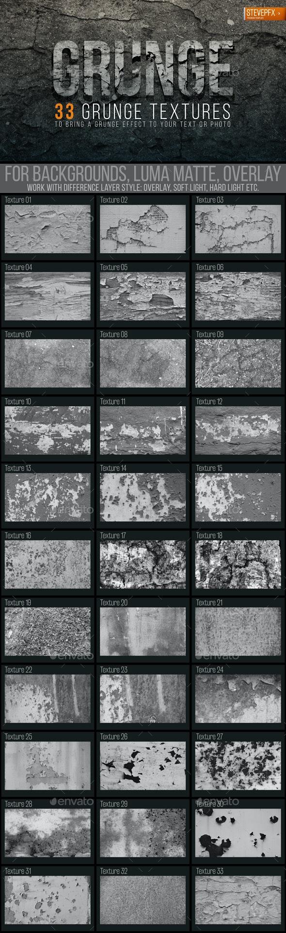 33 Grunge Textures - Industrial / Grunge Textures