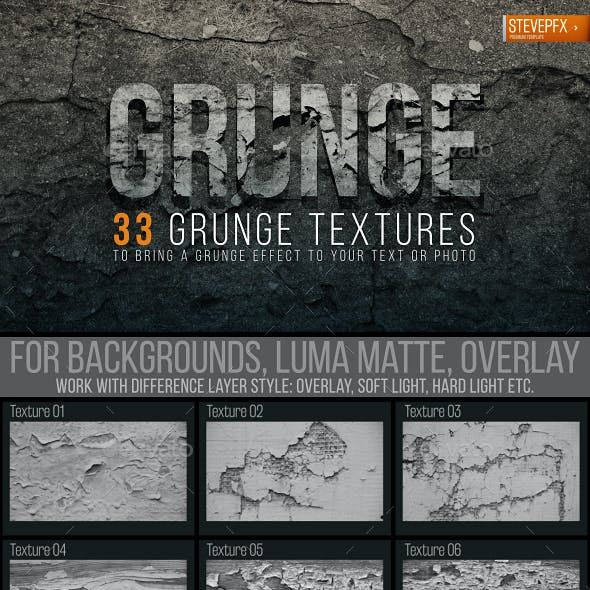 33 Grunge Textures