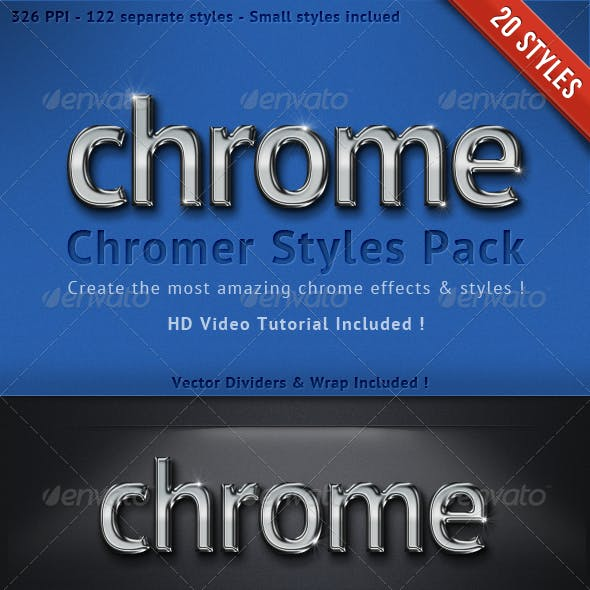 Premium Chrome Text Styles & Effects