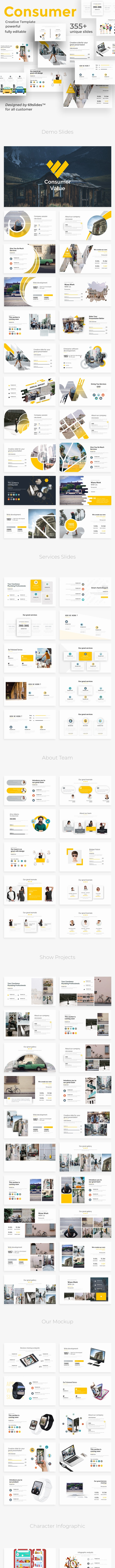 Consumer Value Pitch Deck Keynote Tempate - Business Keynote Templates