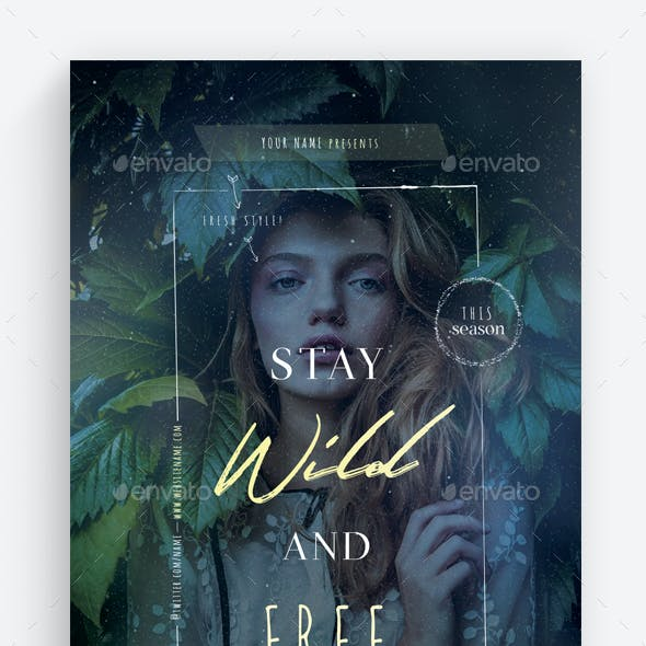 Stay Wild and Free Flyer Template