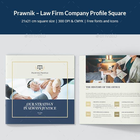 Prawnik – Law Firm Company Profile Square