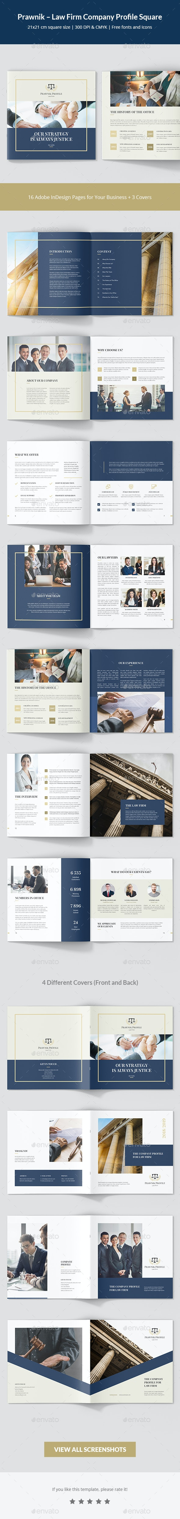 Prawnik – Law Firm Company Profile Square - Corporate Brochures