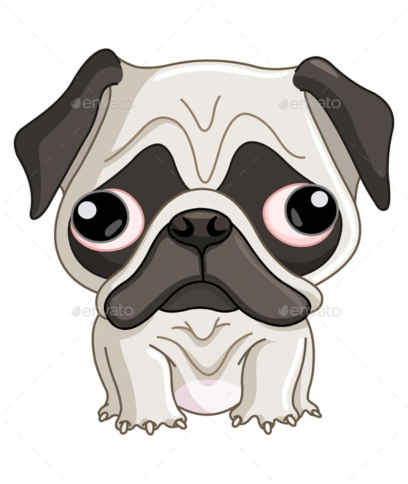 Pug Dog - Animals Characters