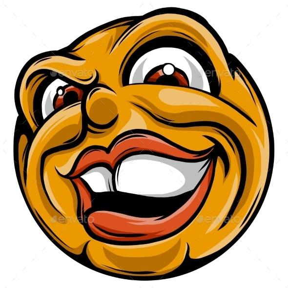 Vector Illustration Face Sneaky Emoticon - Miscellaneous Vectors