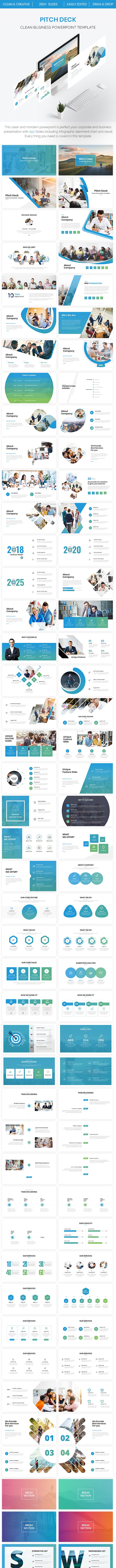 Pitch Deck - CLean Business Powerpoint Template 2019 - Business PowerPoint Templates