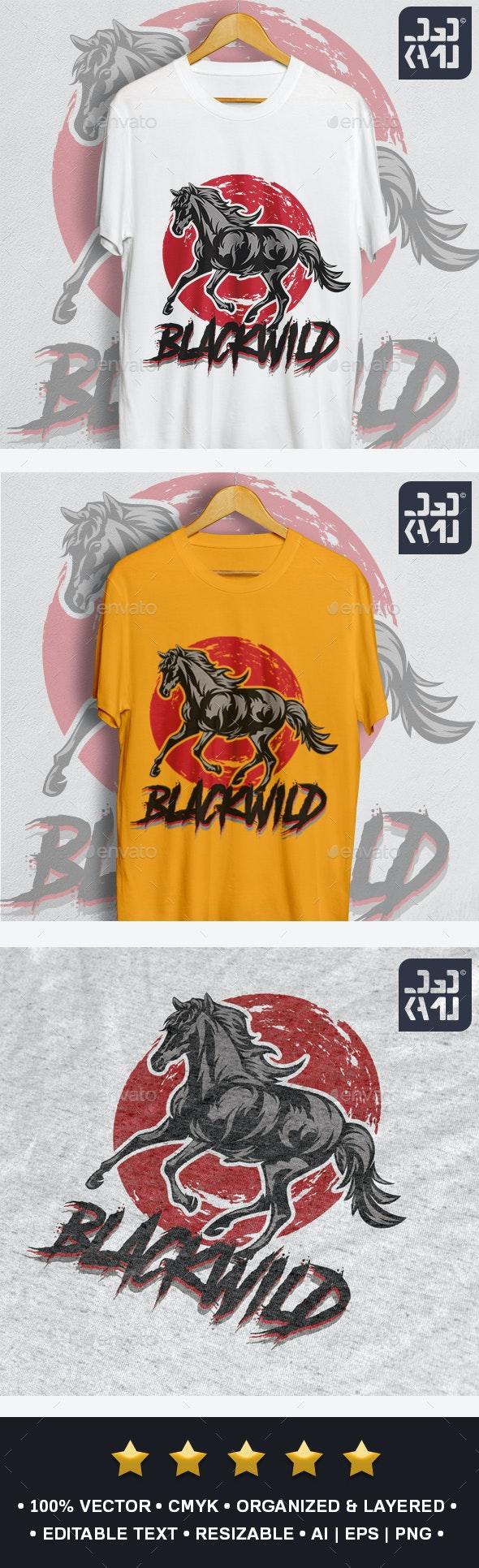 Black Wild T-Shirt - Designs T-Shirts