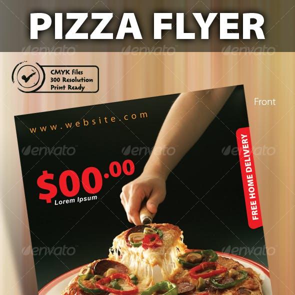Print ready pizza menu flyer
