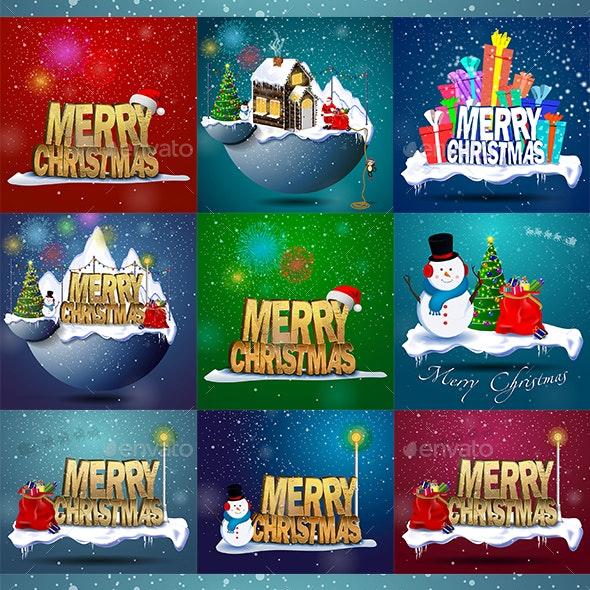Merry Christmas Compositions - Christmas Seasons/Holidays
