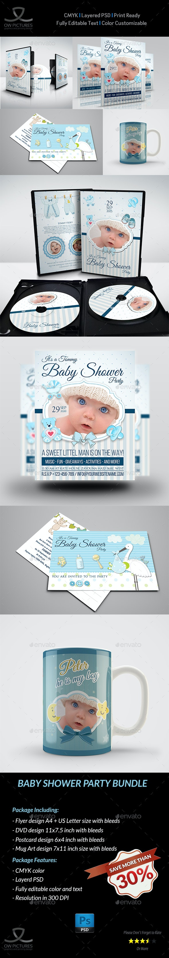 Baby Shower Party Bundle - Miscellaneous Print Templates