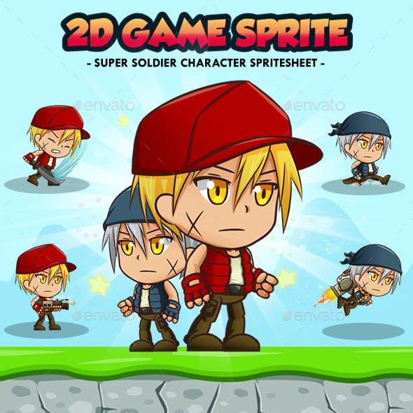 Metal Soldier Fury - 2D Game Character Sprites