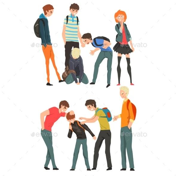 Conflict Between Teenagers - People Characters