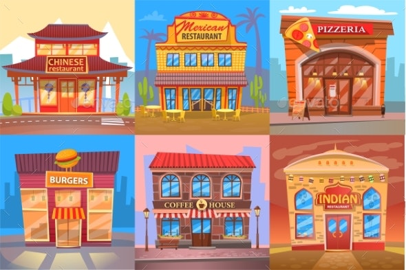 Snackbar Eatery and Restaurant Public Place Poster - Buildings Objects